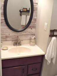 pallet wood accent wall bathroom. pallet wood behind mirror (in addition to toilet - in small bathroom) accent wall bathroom w