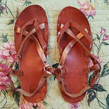 all leather sandals