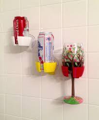 beer wine glass holder bathroom bathtub shower 3d printed