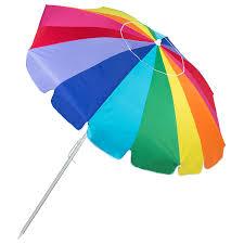 Image Outdoor Rainbow Beach Umbrella W Sand Anchor Best Choice Products Rainbow Beach Umbrella W Sand Anchor Best Choice Products