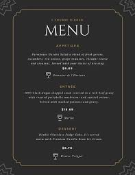 Fancy Restaurant Menu Download Free For Iphone Ipad And Android Canva Fine