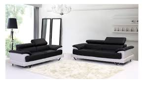 black and white leather sofa cosmo black and white