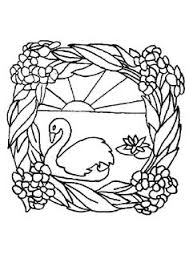 coloring pages swans picture drawing printable and coloring
