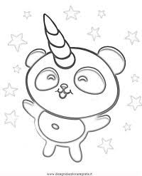 Panda Kawaii Da Colorare Disegno Di Fiocco Di Neve Kawaii Da