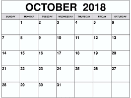 Printable October Calendar 2017 Printable Calendar Birthday Cards