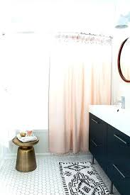 white bathroom rug set round white bath rug pink shower curtain with pom pom trim chic
