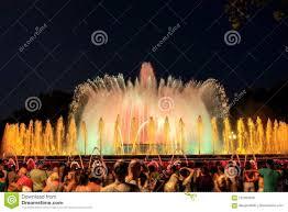 Light Show Fountain Barcelona Barcelona Magic Fountain Of Montjuic Light Show Editorial