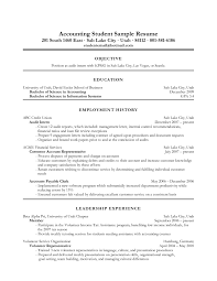 Accounting Student Resume Sample Resume Templates For Accounting For Free Accounting Student Resume 2