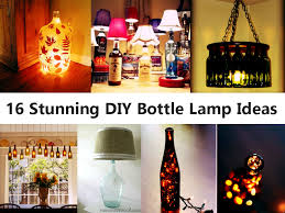 16 stunning diy bottle lamp ideas jpg