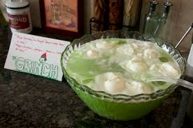 Christmas Grinch Lime Sherbet Punch Recipe. Great for the holidays:  Christmas, New Year's