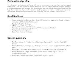 Sample Profile For Resume Profile Resume Template Gallery
