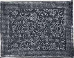 modern design bath mat fl cotton dark grey l 500mm w 700mm for bathroom