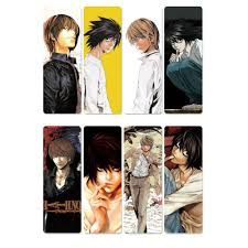 However, when criminals start dropping dead one by one, the authorites send the legendary detective l to track down the killer, and a battle of wits. 8pcs Death Note Anime Bookmarks Waterproof Transparent Pvc Plastic Bookmark Beautiful Book Marks Anime Fan Children Gift Bookmark Aliexpress