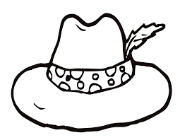 Lady In Hat Colouring Pages Clip Art Library