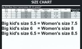 Little Kid Big Kid Shoe Size Chart Converse Kid Size Chart Coreyconner
