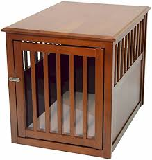 furniture style dog crate. Crown Pet Products Crate Wood Dog Furniture End Table, Medium Size With Mahogany Style