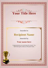 Martial Arts Certificate Templates Free Martial Arts Certificate Templates Add Printable Badges Medals