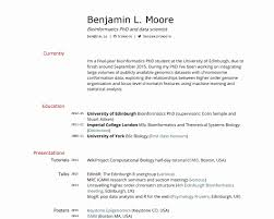 Resumes Blank Resume Template Pdf Lovely Building An Academic Cv In