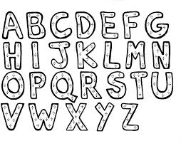 Alphabet Letters Coloring Pages Printable At Getdrawingscom Free