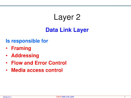 Data Link Layer Ppt Layer 2 Data Link Layer Powerpoint Presentation Id