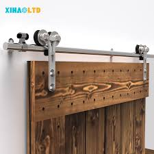 stainless steel sliding barn wood door hardware closet track kit single double 1 of 12free