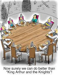 knights of the round table cartoon king arthur and the knights of the round table greeting
