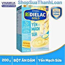 HSD T10-2022] bột ăn dặm RIDIELAC GOLD Yến mạch sữa - Hộp giấy 200g