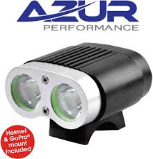 Azur 2200 Bike Light Review Azur 2200 Lumen Front Twin Deluxe Led Light With Gopro Mount