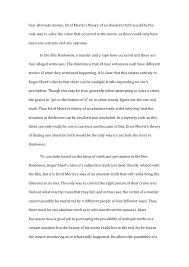 rashomon essay rashomon the 3 four