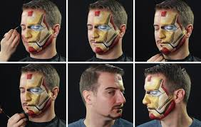 makeup artist undergoes incredible transformations into disney characters iron man iron man step 06