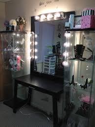 black bedroom vanities. Adorable Bedroom Vanity Mirror With Lights For Advanced Dressing Spot : Attractive DIY Designed Black Vanities A