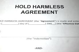 Hold Harmless Agreement Sample Document Insurance Example ...
