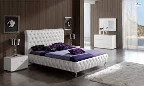 Luxury Bedroom Furniture Brands Adriana Bedroom Set In White Leather By Dupen Made In Spain
