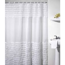 white shower curtain. Ruffles Shower Curtain, White Curtain V