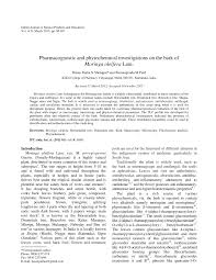 Pharmacognostic and phytochemical investigations on the bark of ...