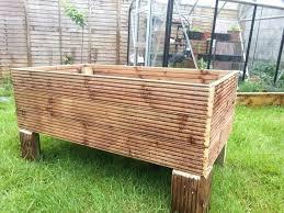deck garden planter make a garden planter from decking 7 steps with pictures raised wood deck deck garden planter