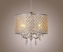 2017 luxury modern crystal drum pendant chandelier hanging