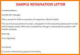 Formal Resignation Letter Example. Resign Letter Format Simple With ...