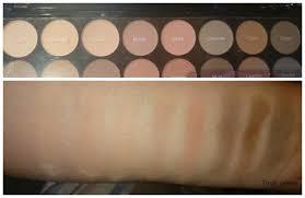 makeup revolution flawless matte palette review und swatches
