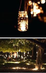 outdoor tree lighting ideas. Hanging Tree Lights Mason Jar Fairy Outdoor Wedding Ideas On A Budget Christmas . Lighting O