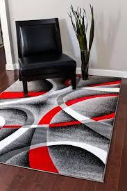 red rugs for living room 2305 gray black white swirls 5 2