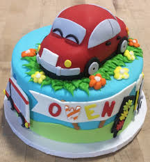 3d Car On Round Cake Trefzgers Bakery