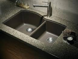 sink for granite countertop impressive stainless steel faucet and dark grey granite plus twin granite kitchen