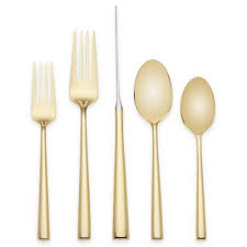 kate spade <b>new</b> york Malmo™ Gold <b>5</b>-<b>Piece</b> Flatware Place Setting ...