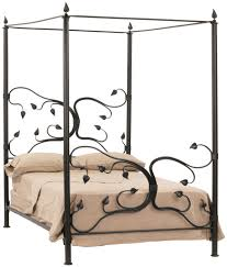 California King Canopy Bed Frame | Black Wrought Iron Bed