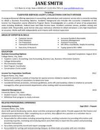 click here to download this taxpayer services agent resume template httpwww resume sample accounting
