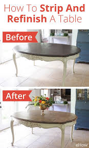 how to strip and refinish a dining table furniture