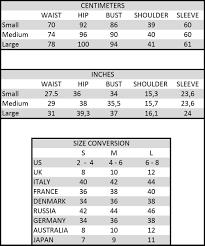 Size Chart Opaline