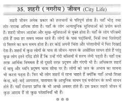 short paragraph on city life in hindi