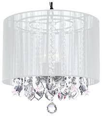 chandelier white shade black